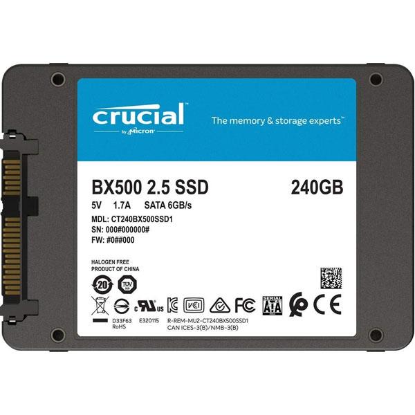 HD SSD 240GB CRUCIAL BX500 2.5